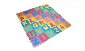 36PCS LARGE Alphabet Numbers EVA Floor Play Mat Jigsaw Foam Puzzle Baby Soft Toy