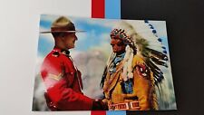 Postcard RCMP Royal Canadian Mounted police Indian Chief Sitting Eagle