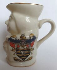 1920s Carlton Ware Blackpool Crested China Toby Jug with Verse