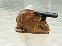 Barclay, Manoil, Auburn-  Auburn Rubber A13 230 Machine Gunner  nice condition