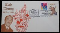 Walt Disney 1968 USPS 6c Stamp Disneyland Station 1998 Postmark 75th Anniversary