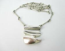Lapponia Collier 925 Sterling Silber Kette Weckström Halskette Finnland Modernis