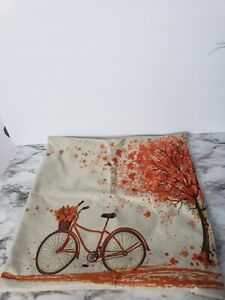 """Happy Autumn Tree Maple Leaf Bicycle Cushion Pillow Cover Case Decorative18""""x18"""""""