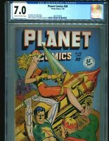 Planet Comics 58 CGC 7.0 C/OW pages 1949 Fiction House Rare classic Cover! $850
