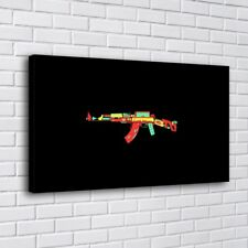 Gun Bus Tank Pistol Color Home Decor HD Canvas Print Picture Wall Art Painting