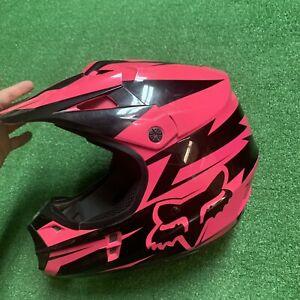 Fox Racing Helmet MX Motocross Dirt Bike Off-Road ATV Pink Women's Size Medium