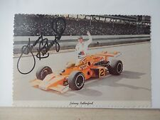 "Johnny Rutherford Autographed 4"" X 6""  Postcard"