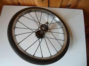 "Restorers Raleigh Chrome Steel Rear Wheel & Solid Tyre  13 x 1 1/8"""