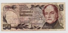 Venezuela 50 bolivares   1981      BB  VF     pick 58 lotto 1602