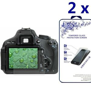 [2x] HD Tempered Glass Screen Protector For Canon 800D