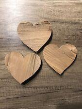 3er Set Deko Holz HERZ 3 TEILE Natur Hochzeit aus gespaltenem Buchenholz Holz