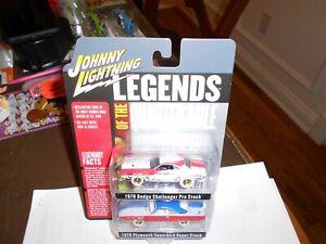 """2020 Johnny Lightning 2-Pack """" Legends of Quarter Mile White Lightning Chase"""