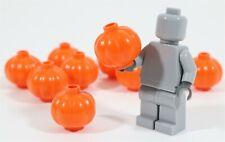 LEGO ORANGE PUMPKIN PART X10 HALLOWEEN MINIFIGURE FOOD ACCESSORY - GENUINE