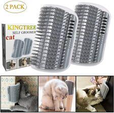 Cat Self Groomer, 2 Pack Wall Corner Groomers Soft Grooming Brush Massage Combs