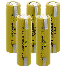 5x Exell AA 1.2V 1000mAh NiCD Rechargeable Batteries with Tabs FAST USA SHIP