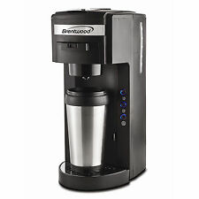 Serve K Cup Coffee Maker and Soft Pod Compatible Brentwood Single