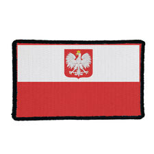 Poland Polish Nation Country Flag Embroidered Sew/Iron On Patch Patches