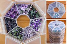 NEW Hotfix Box Set Crystal Diamante Rhinestones PURPLES