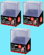 15 Ultra Pro 3x4 360PT SUPER THICK TOPLOADERS NEW Trading Sports Cards 360 Rigid