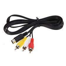3RCA 1.8 m 9 poliges Audio Video AV Kabel für Sega Genesis 2 oder 3