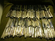 Oneida Community MY ROSE Set of 6 Hollow Handle Dinner Knives Good Used Cond.173