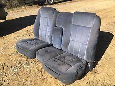 Ford Ranger Bronco II Blue 60/40 Split Bench Seat Interior Blue Cloth Velour