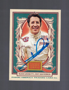 Mario Andretti Indy Card Race Driver Signed Racing Card W/Our COA