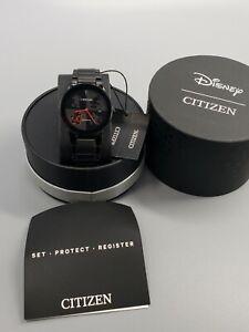 New CITIZEN ECO-DRIVE Disney Classic Mickey Mouse BlackBand 40mm AU1069-57W $375