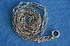 "Civil War Era Antique 36"" Sterling Silver Chain Knot Link Watch Pendant Necklace"