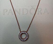 Pandora Chain 387436c01 Logo Pavé-Kreis Collier ALE MET