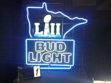 "New Bud Light Super Bowl Beer Bar Neon Light Sign 24""x20"""