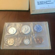 1960-P Us Mint Silver Proof Set in original govt packaging 5 coins. Large Date