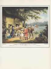 "1974 Vintage FOX HUNTING ""GOING OUT"" COLOR Art Print Lithograph"