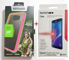 BodyGuardz Contact Pink Case+Tech21 Screen Protector For Samsung Galaxy Note 5