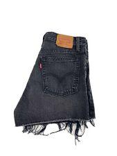Levi's Wedgie Fit Womens 28 Black SHigh Rise Raw Hem Jean Shorts