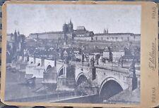 DEC 25 1894 K. BELLMANN CABINET CARD PHOTO BRIDGE PRAGUE AUSTRIA CZECH REPUBLIC