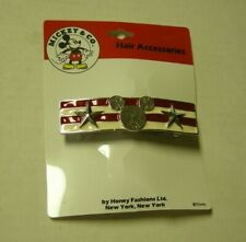 Mickey Mouse Vintage Hair Clip By Home Fashions Ltd., USA Military Style, New