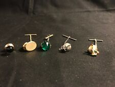 Lot Of 5 Tie Tac McM Single Stone Christmas