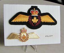 Air Force Pilot Officer Full Size Metal & Cloth Badge Set Wings Lot