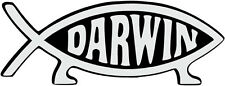 DARWIN FISH STICKER - car bumper sticker - 16 cm x 6 cm