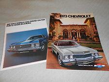 1973 CHEVROLET CAPRICE, IMPALA, BELAIR 20 p. CATALOG plus 73 FOLDOUT BROCHURE