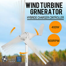 400W Wind Turbine Generator 3 Blades Horizontal Residential + Controller 12V