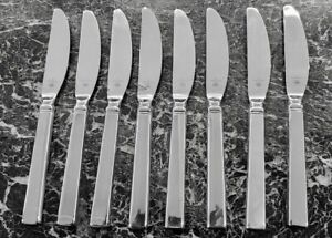 8 DINNER KNIVES Pfaltzgraff PEYTON Stainless 18/8 Glossy Flatware