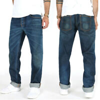 Nudie Herren Regular Tapered Fit Jeans - Big Bengt Flat Indigo Embo - W32 L34