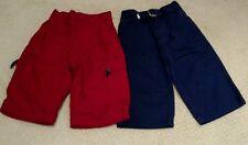 Euc 2 Pairs Boys Pants Gap & Ralph Lauren 6-12 months Red Navy