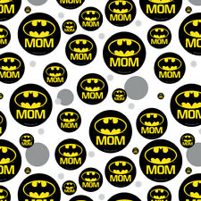 Batman Bat Mom Shield Logo Premium Gift Wrap Wrapping Paper Roll