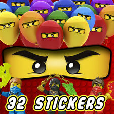 32 x Lego Ninjago Eyes Stickers for Balloons, Bags, Plates, Party Decorations