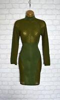 ~ZARA~ Green Celeb Bodycon Evening Midi Pencil Wiggle Party Dress 8 10 12 14
