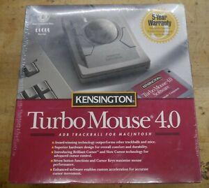Vintage Kensington Turbo Mouse 4.0 Trackball For Macintosh, #64100 - Sealed