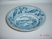 """Johnson Brothers-Historic America """"Erie Canal"""" Oval Bowl/Blue & White/FREE SHIP!"""